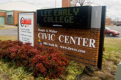 Civic Center Sign