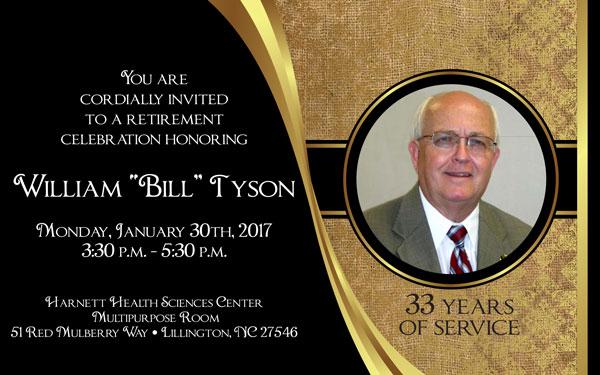 William Tyson's Retirement Celebration