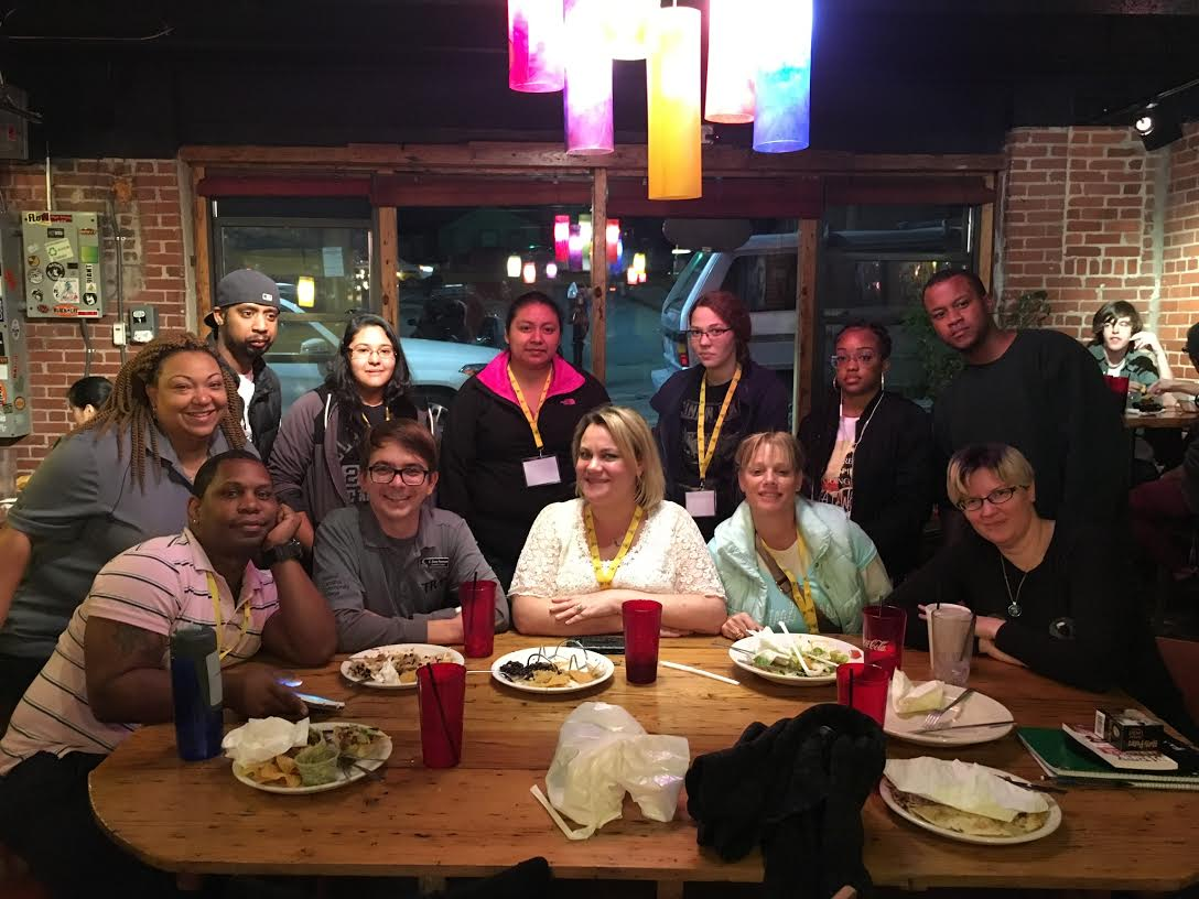 Dinner at the Black Cat Burrito in Boone.