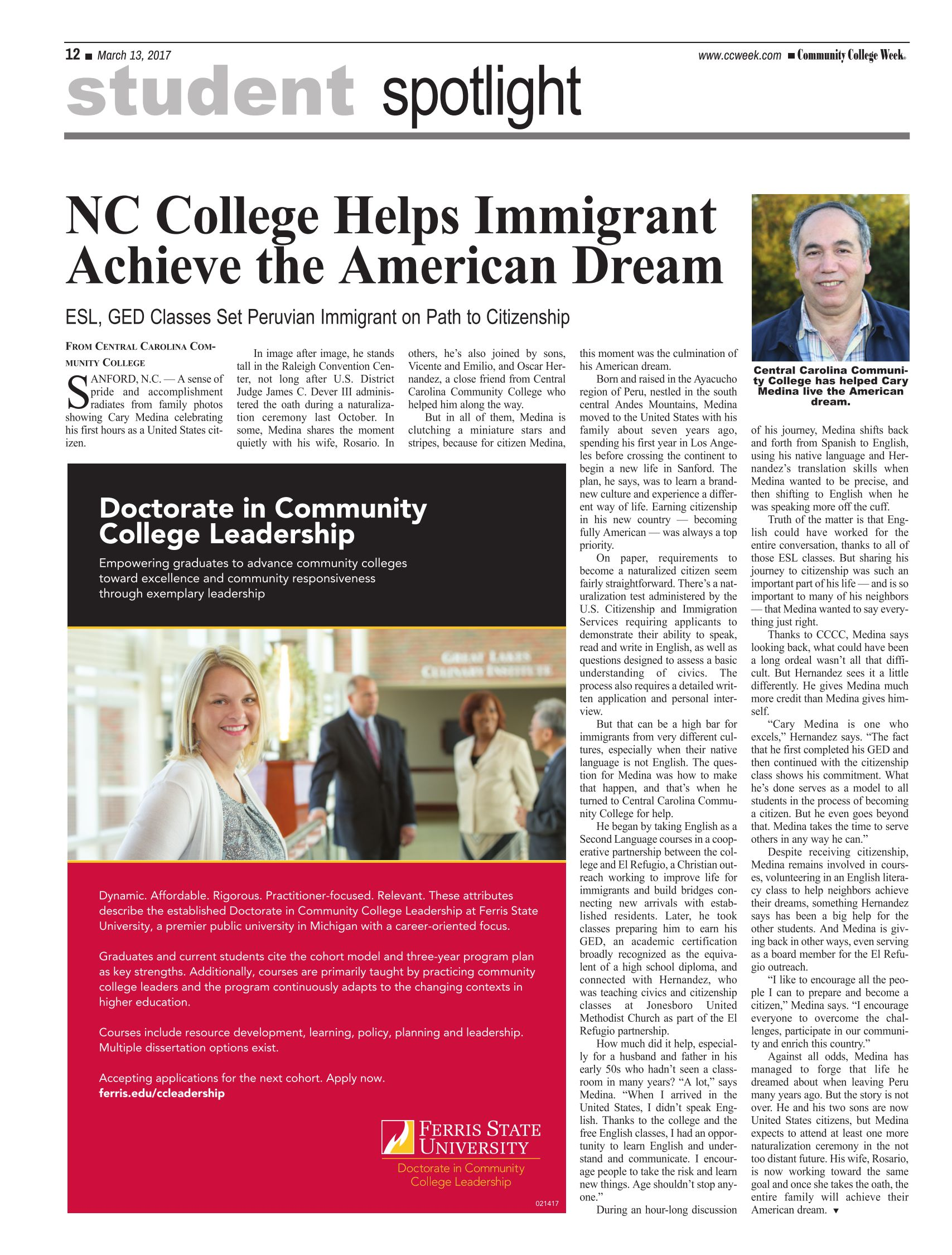 CCCC Helps Achieve the American Dream