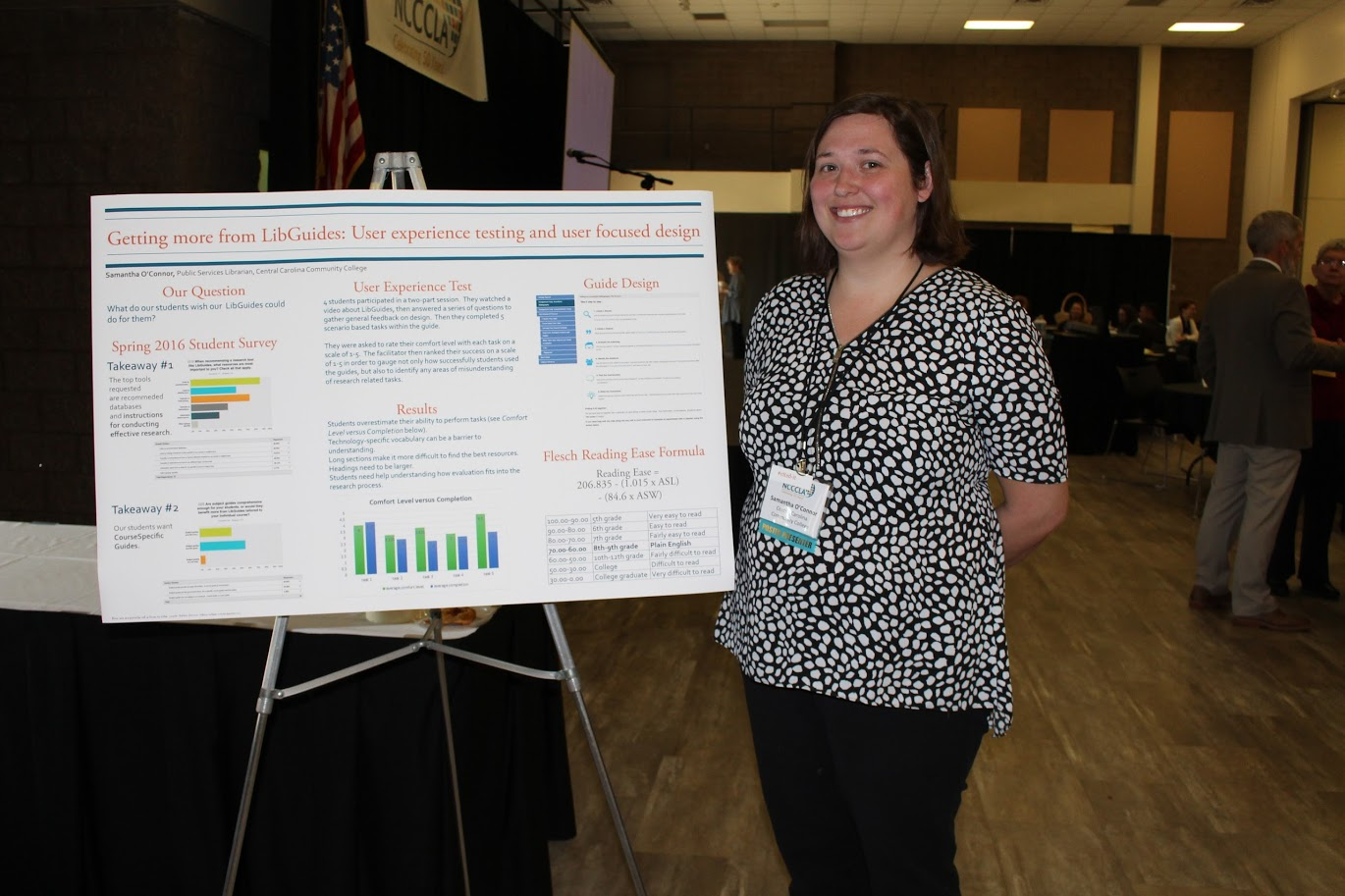 Samantha O'Connor's poster session at NCCCLA