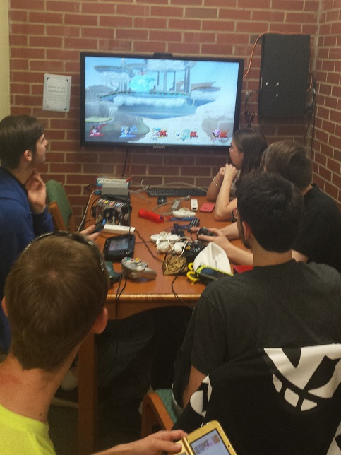 Student Gaming Club partnered to have gaming in the library during Student Activity Day at the Lee Main Campus.