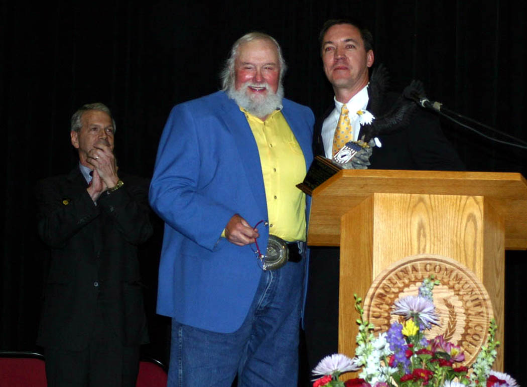 Click to enlarge Charlie Daniels honored at Central Carolina Small Business Banquet
