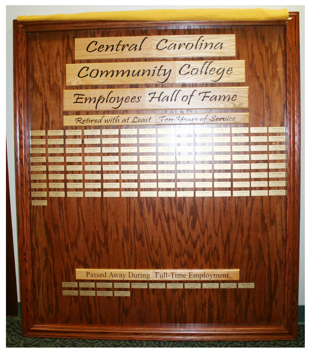 Click to enlarge CCCC unveils Hall of Fame