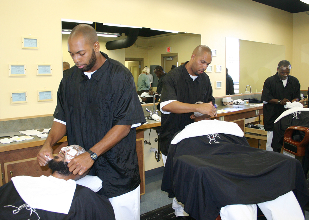 Click to enlarge HCI, CCCC open inmate barber school