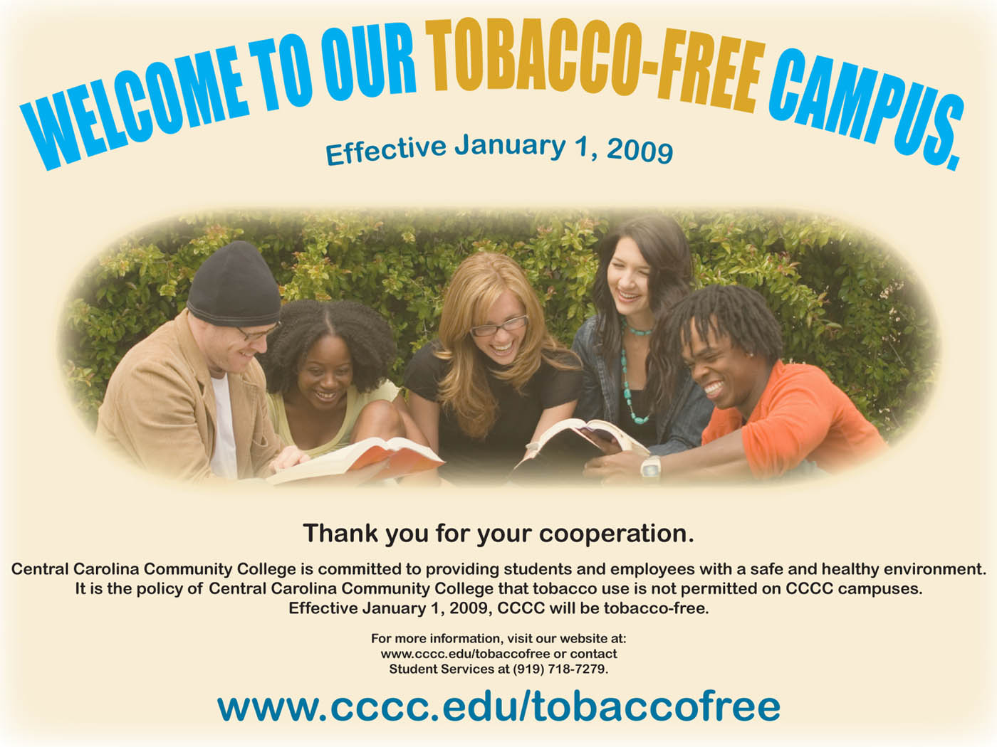 Click to enlarge CCCC going tobacco-free
