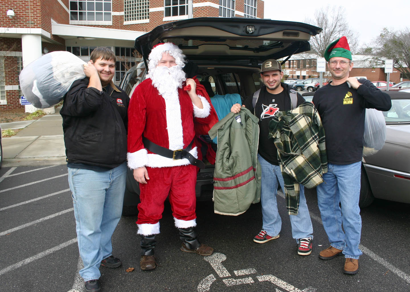 Click to enlarge Central Carolina C.C. Broadcasting students collect, donate coats