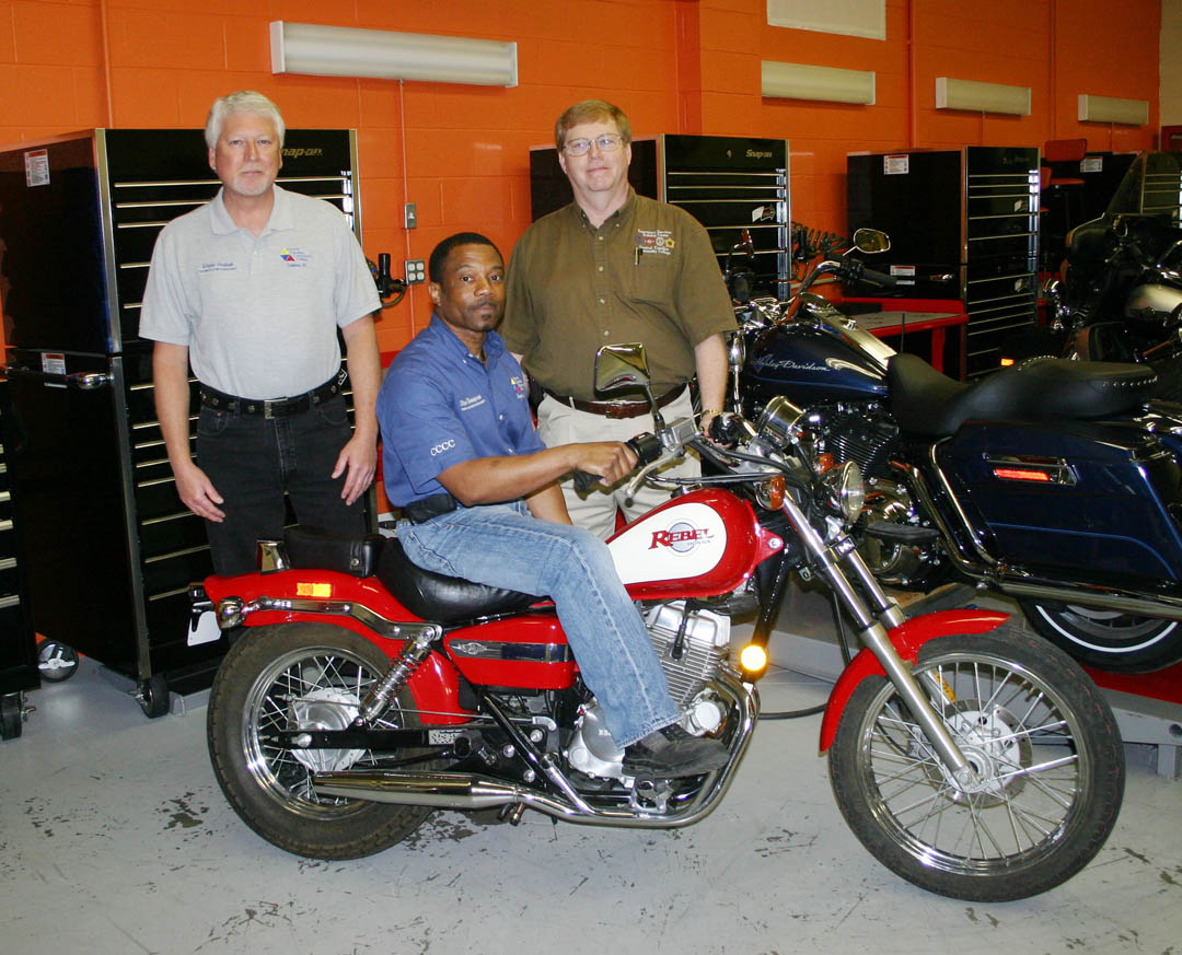 ESTC receives donated, rebuilt motorcycle