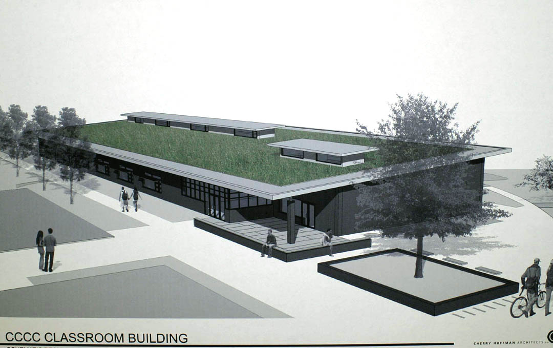 Click to enlarge Chatham commissioners okay green roof, water for CCCC Sustainable Building