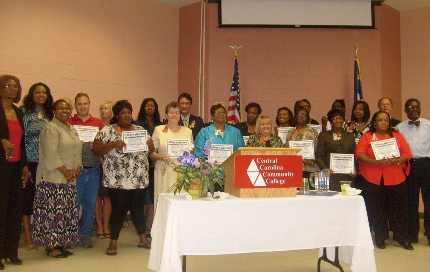 Click to enlarge CCCC - Harnett awards N.C. Career Readiness certificates