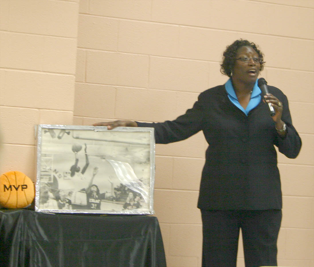 Click to enlarge Former UNC basketball champ speaks at CCCC Black History Month