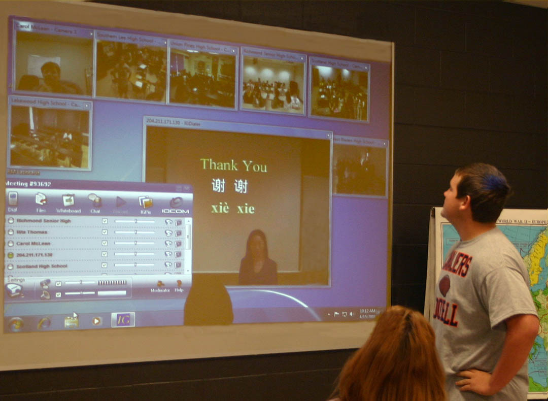 CCCC instructor brings China to schools via BRAC videoconferencing