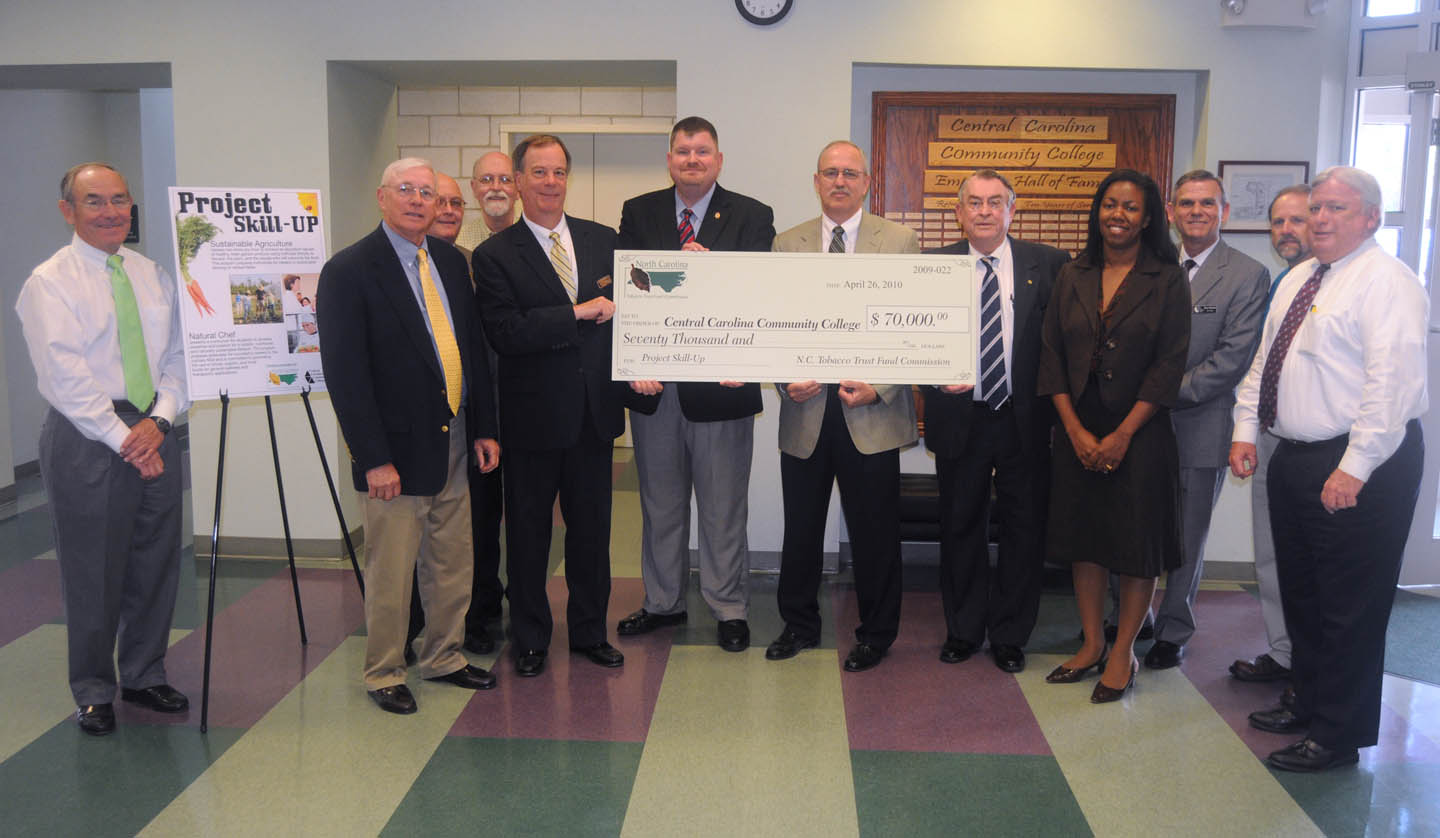 Click to enlarge CCCC, N.C. Tobacco Trust Fund celebrate grants
