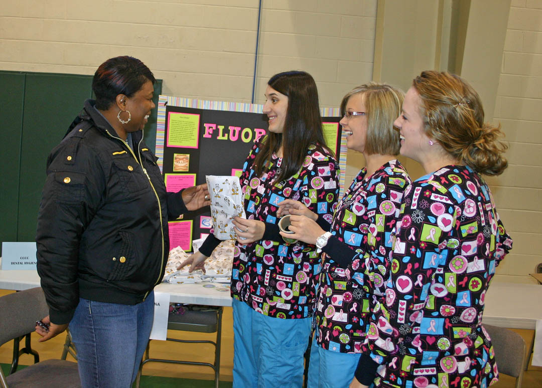Click to enlarge CCCC students volunteer at Stevens Center Health Fair