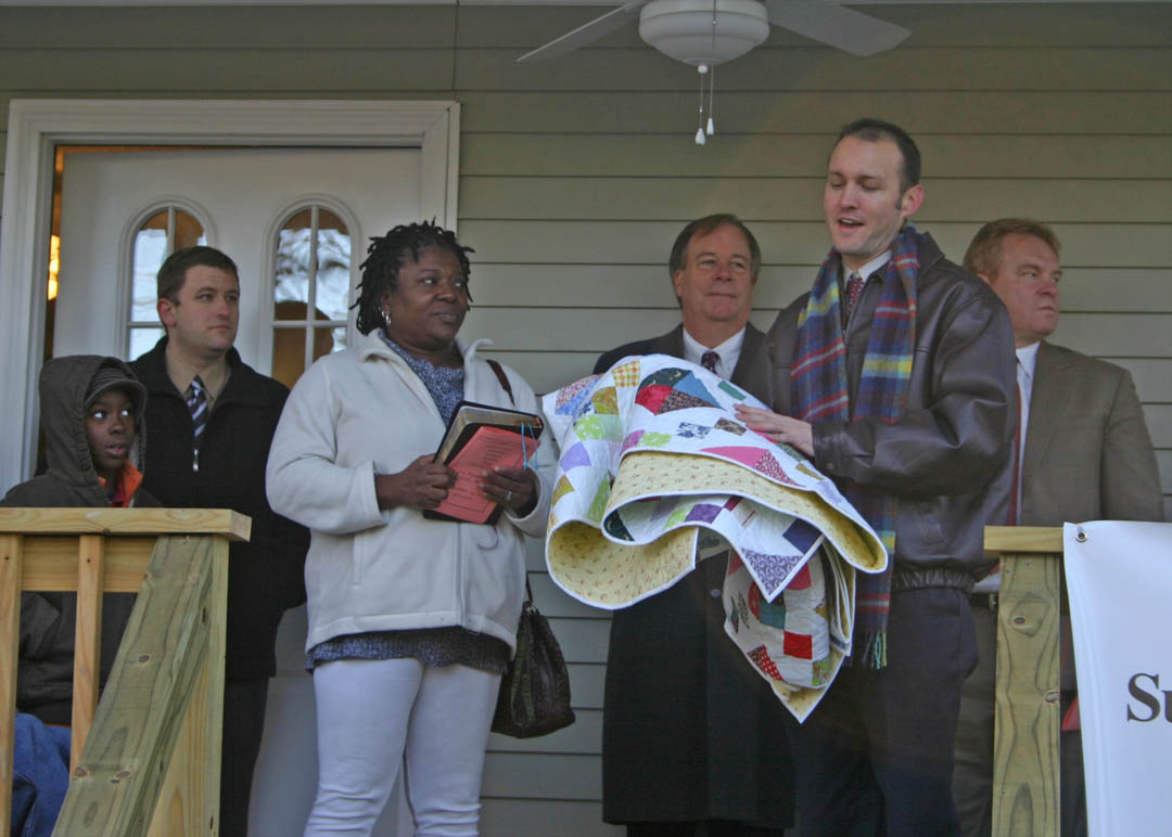 Community partnership builds green Habitat home