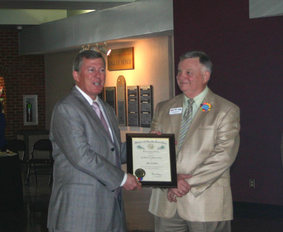 Felton honored for service as head of CCCC Small Business Center, Civic Center
