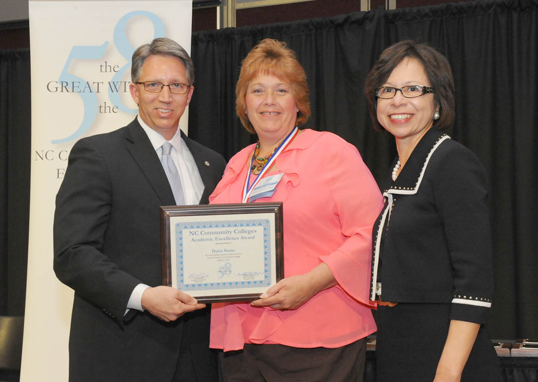 Click to enlarge CCCC's Dana Stone honored by NCCCS