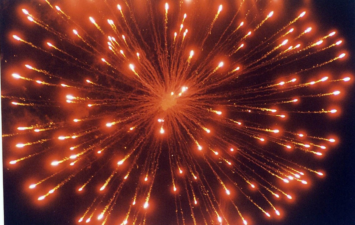 Click to enlarge Fireworks light up CCCC 50th