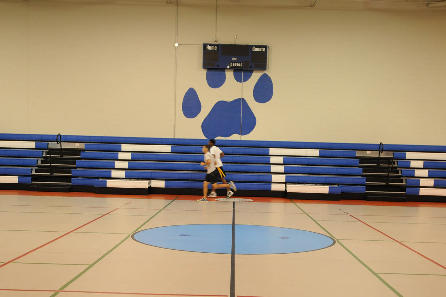 Click to enlarge CCCC gym sports new bleachers