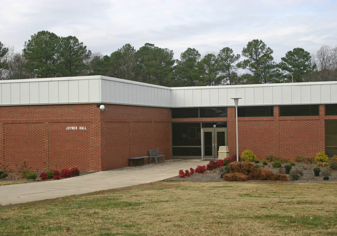 Click to enlarge,  Central Carolina Community College's Vocational Building wa erected in 1987 and renamed  Marvin R. Joyner  Hall in 2005 in honor of the college's third and longest-tenured president. He led the college from 1983 to 2004.