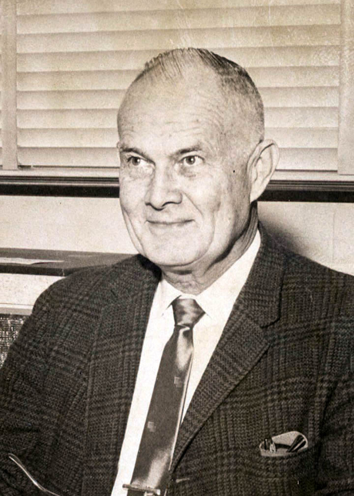 Click to enlarge,  Shepherd Rice, now deceased, was coordinator of Diversified Occupations at Sanford Central High School when he became involved in working to establish the LCIEC. He was hired as the institution's first employee, serving as counselor coordinator starting July 1, 1961, the same date Director (later President) William Martin began his duties. Rice went on to become the institution's director of Vocational Education.