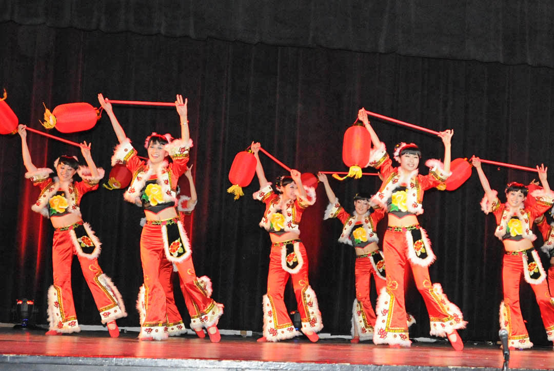 Click to enlarge,  Shanxi University dancers and musicians from the People's Republic of China delighted and thrilled an audience of about 600 with their performance Feb. 1 at the Dennis A. Wicker Civic Center. The Red Lantern dance depicts a lively spring festival in Shanxi Province. Central Carolina Community College's Confucius Classroom, in partnership with N.C. State University's Confucius Institute, sponsored the performance by professors and students from Shanxi University's School of Music. For more information on CCCC's Confucius Classroom, visit the college's Web site,  www.cccc.edu/confucius  or call (919) 718-7228 or (919) 718-7376.