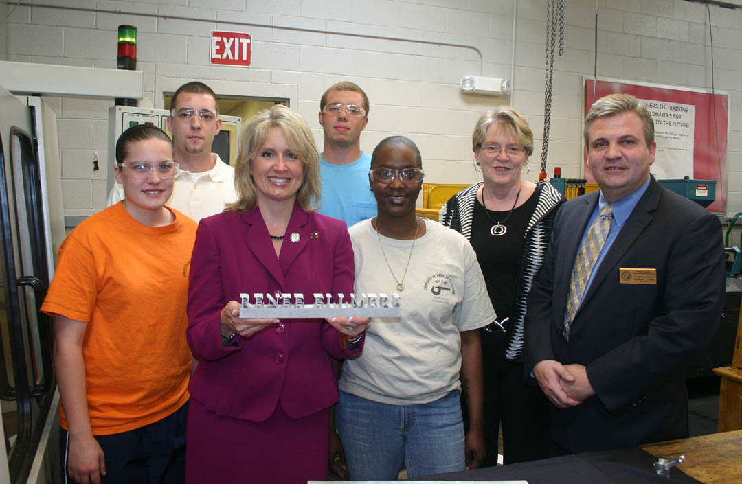 Ellmers, Stone, Shook visit CCCC's computer integrated machining program