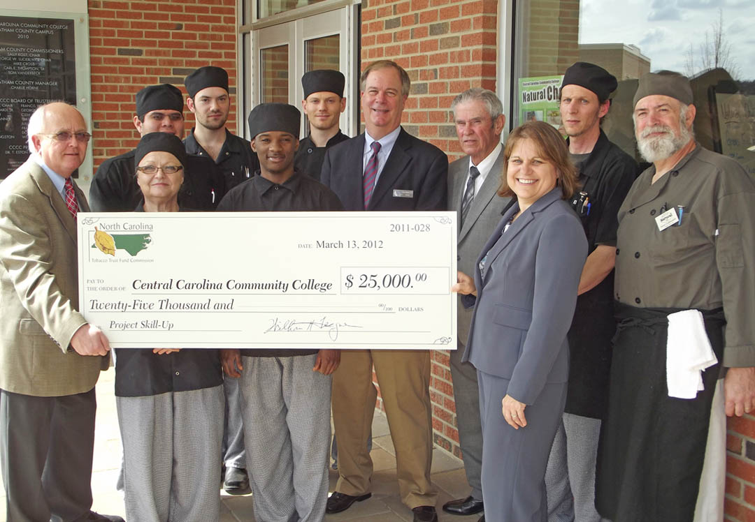 NC Tobacco Trust Fund presents grant to CCCC