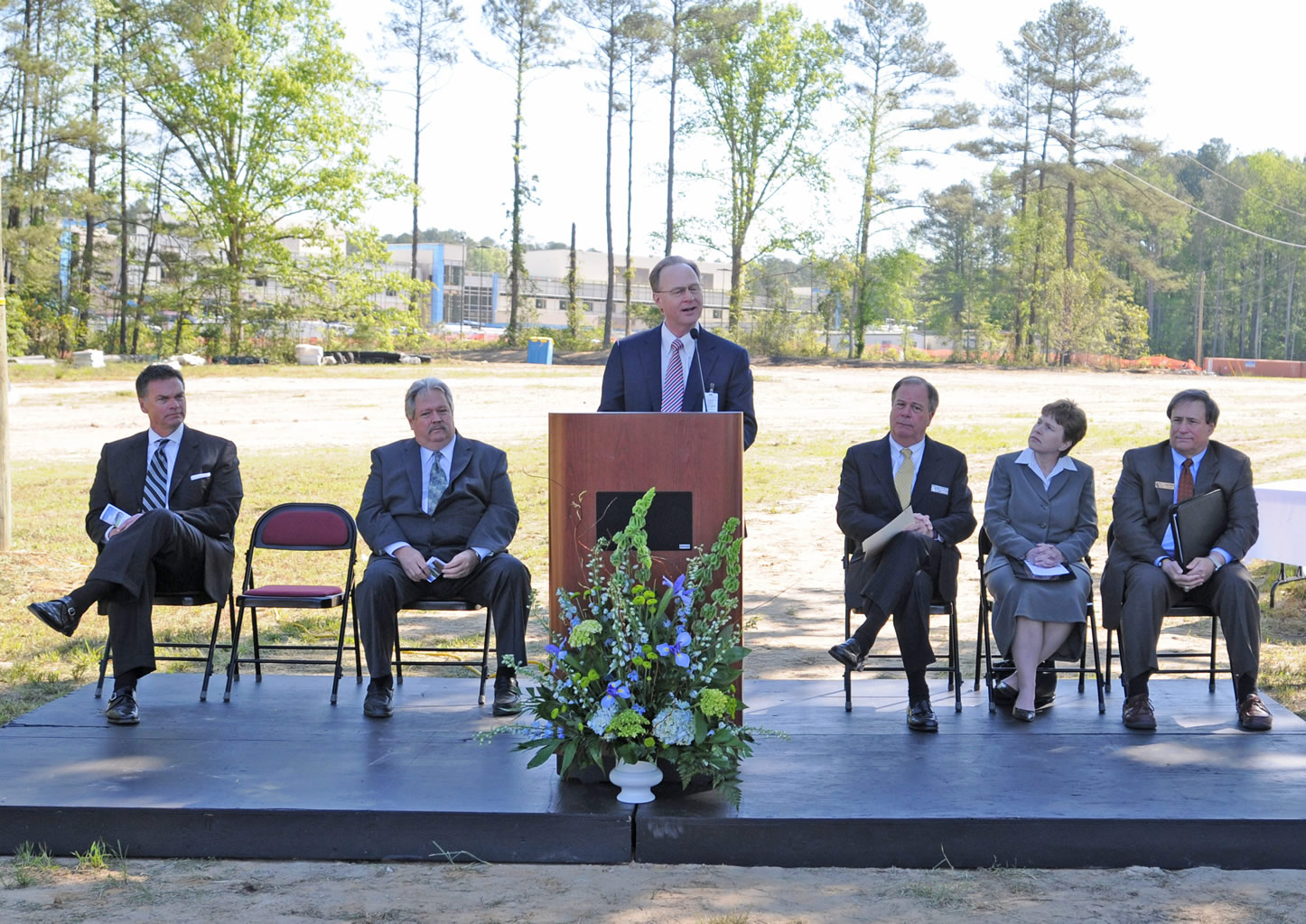 Click to enlarge CCCC, Harnett break ground for new Health Sciences Building