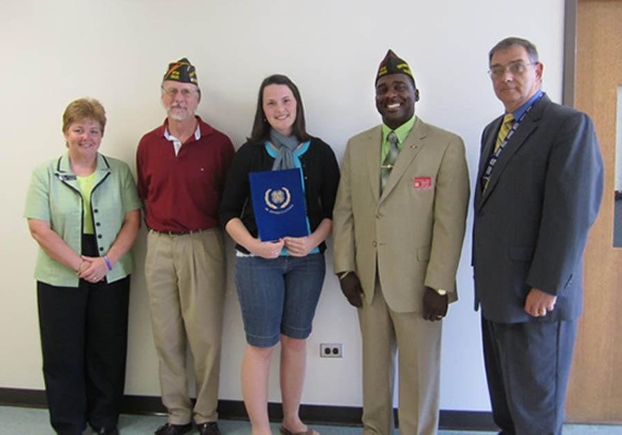 Click to enlarge LEC student wins VFW Award