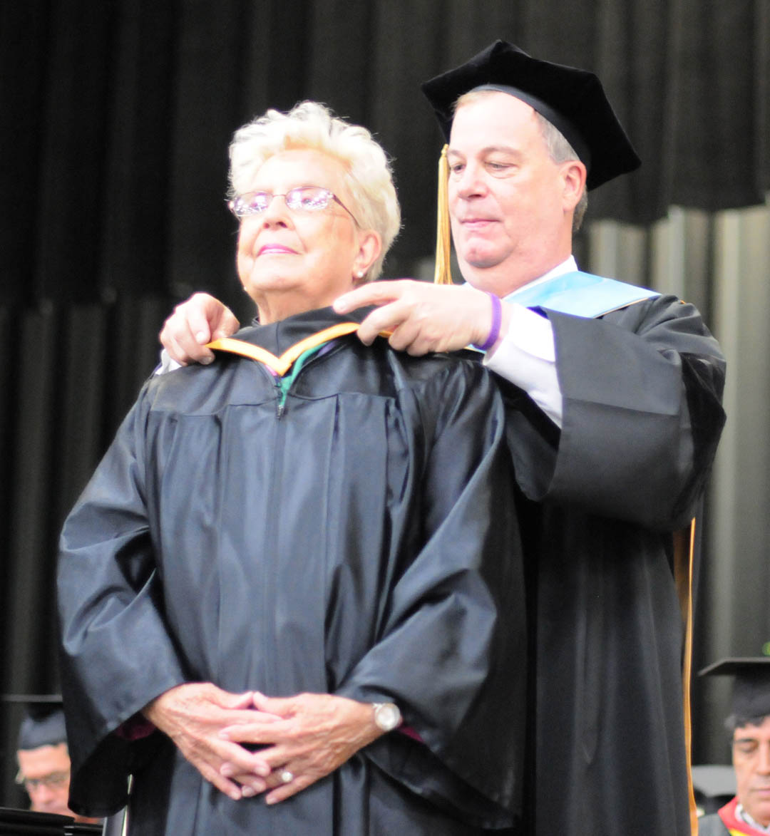 Warner receives first CCCC Honorary Associate degree