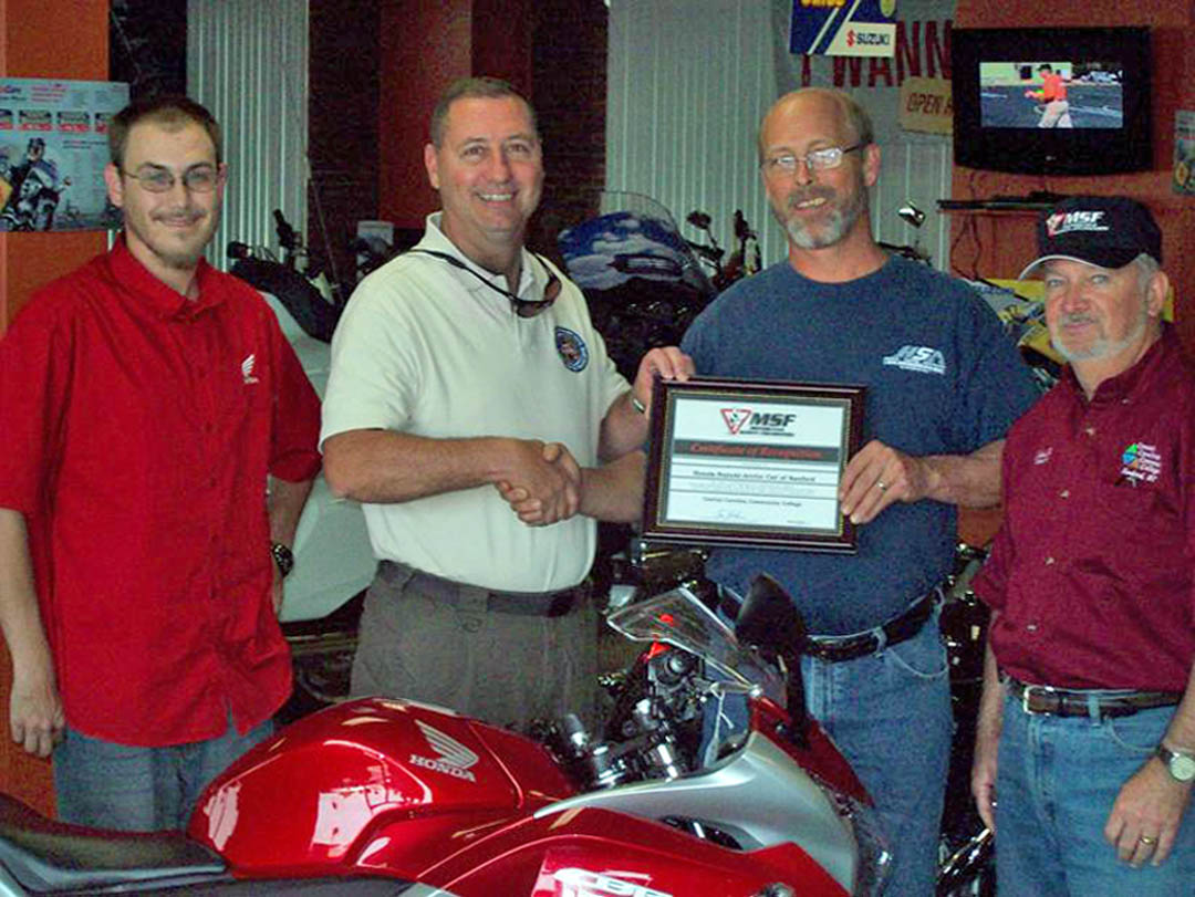 Sanford Honda dealer recognized by CCCC, NCMESF