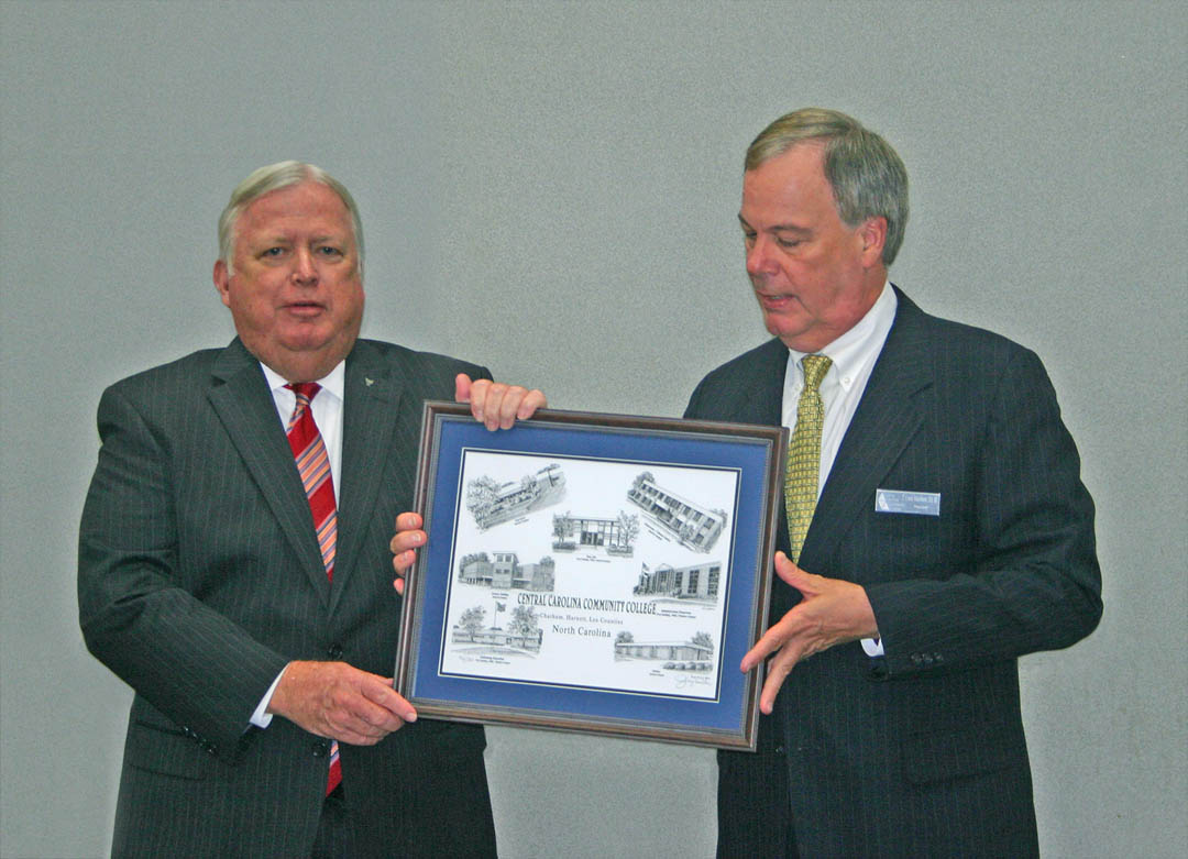 Garrison honored for service as CCCC trustee