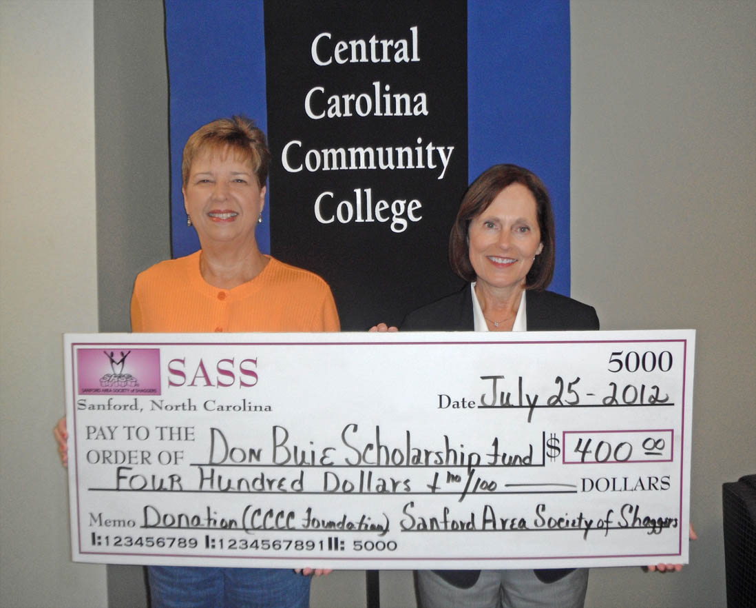 SASS scholarship donation honors CCCC's Don Buie
