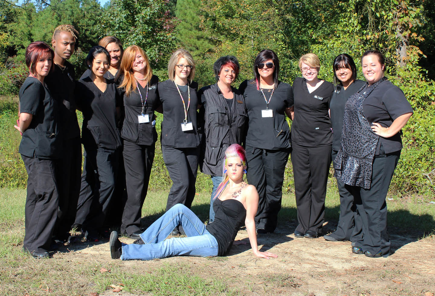 CCCC Cosmetology color class wins first at state