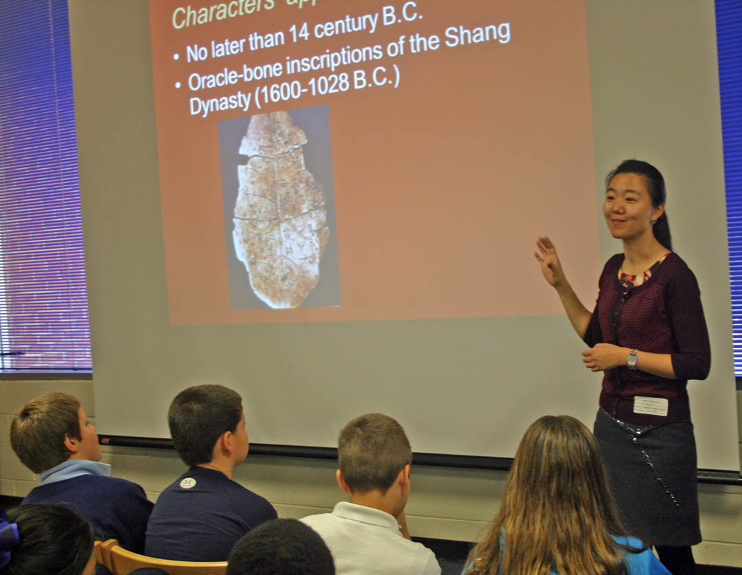 Click to enlarge CCCC Chinese instructor brings China to life for West Lee students