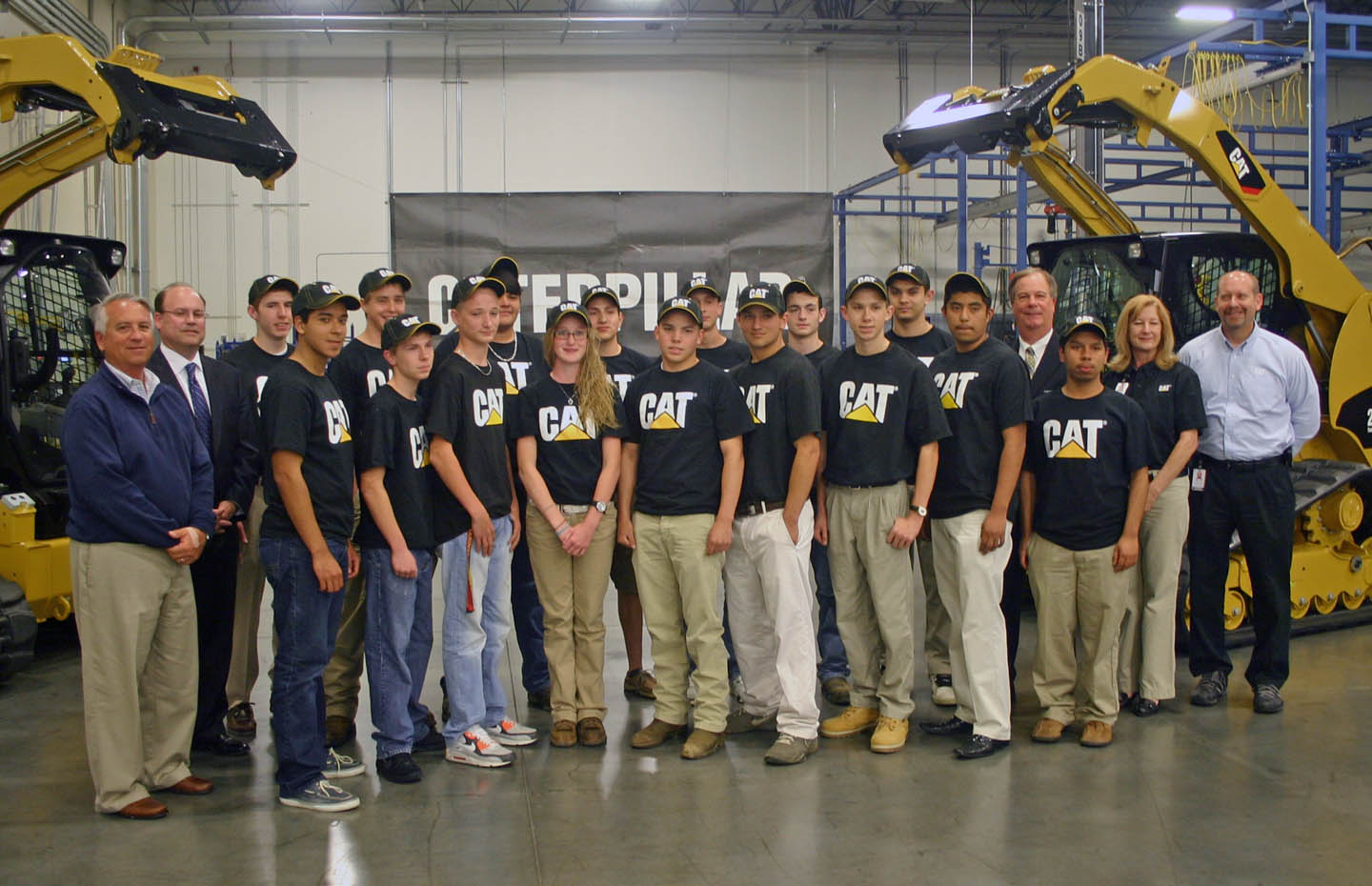 Caterpillar's youth welding apprenticeship inducts 16
