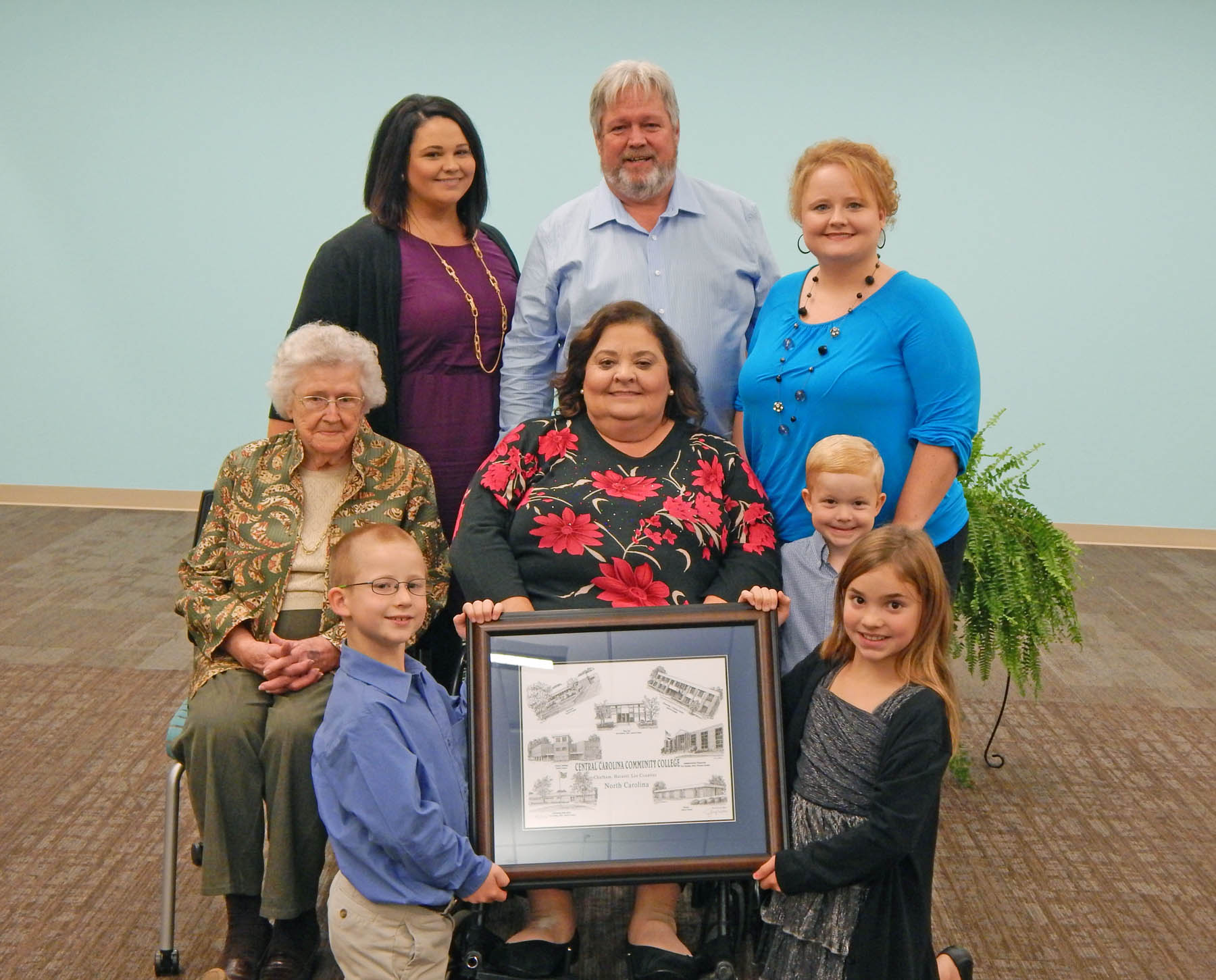 Click to enlarge CCCC honors McNeill at Harnett Health Sciences Center