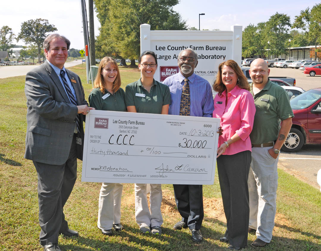 Click to enlarge Farm Bureau gives $30,000 to CCCC Vet Med Tech program
