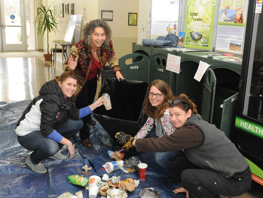 CCCC Chatham Campus celebrates America Recycles Day