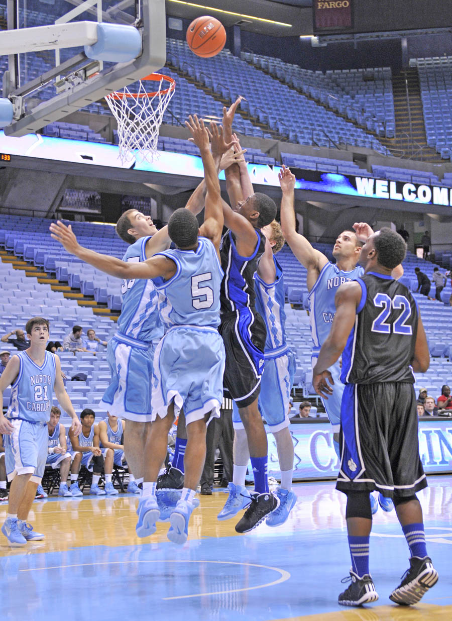 Click to enlarge CCCC Cougars soar over Tar Heel JV