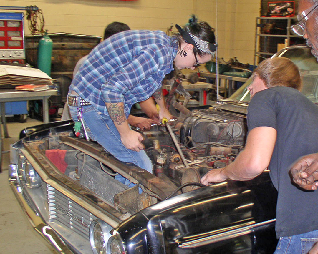 Click to enlarge CCCC Automotive Restoration program unique in state