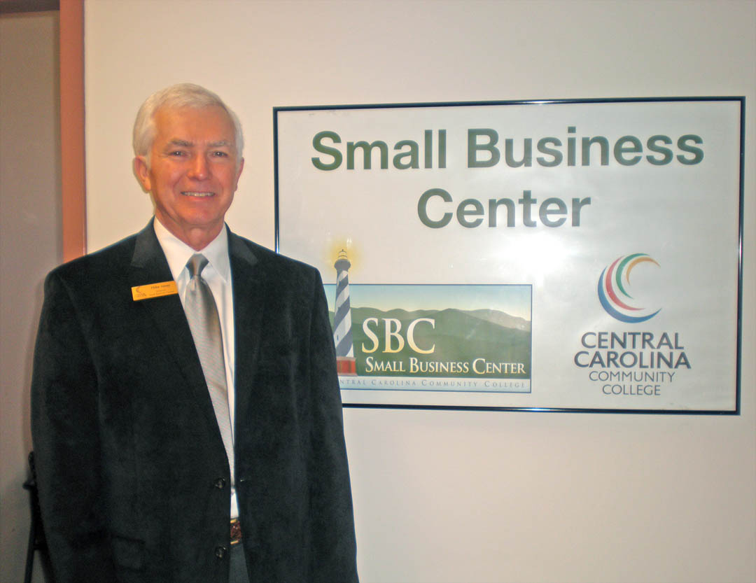 Click to enlarge,  Mike Jones, director of Central Carolina Community College's Small Business Center, works with would-be or current small business entrepreneurs to help them be successful. For more information about the Small Business Center in Lee County, contact Jones at 919-718-7424 or by e-mail at mjones@cccc.edu.
