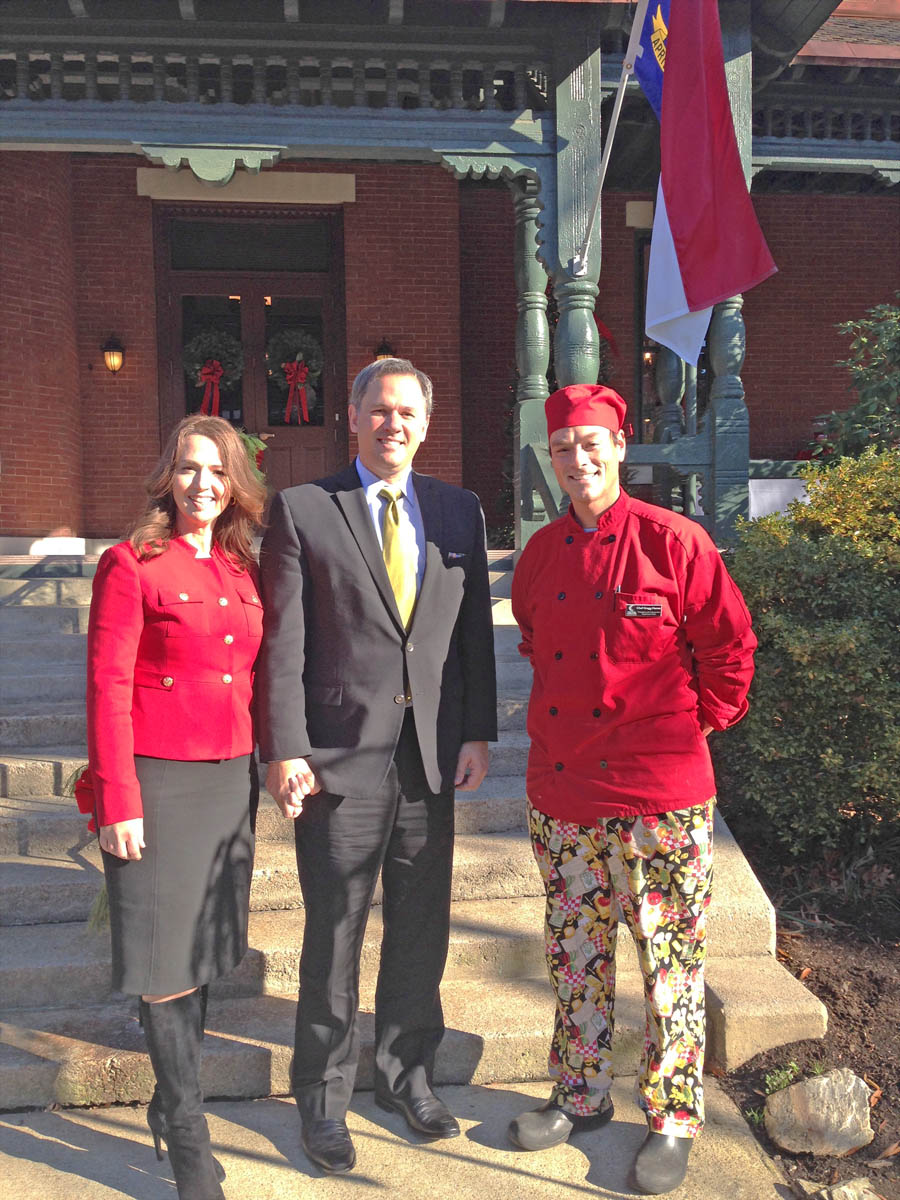 Click to enlarge CCCC culinary students cater Lt. Gov.'s Open House