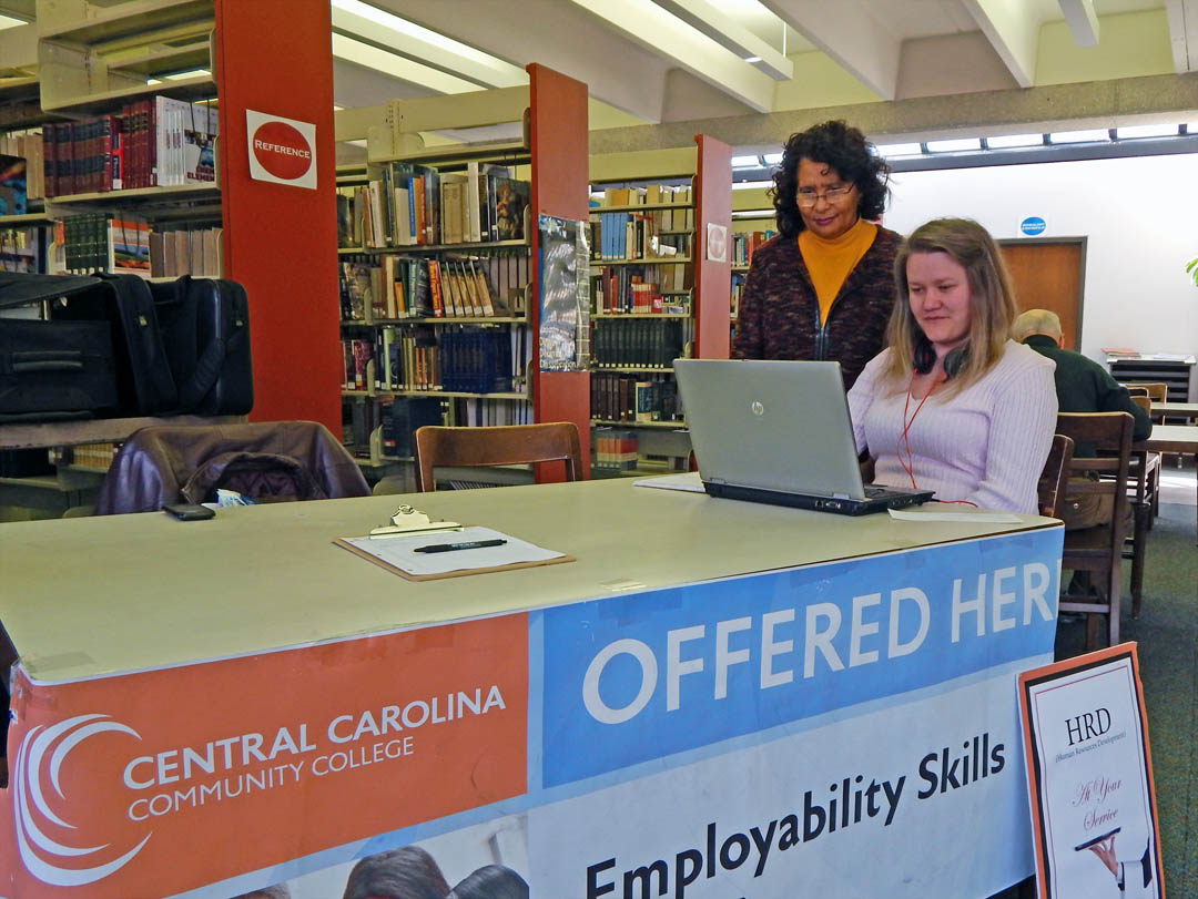 Click to enlarge CCCC opens Career Readiness Lab at Lee County Library