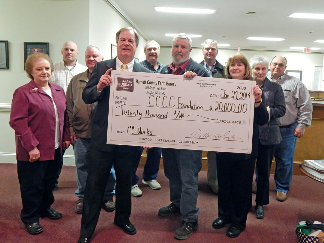 Harnett farm bureau supports central carolina works 01 30 for Bureau college