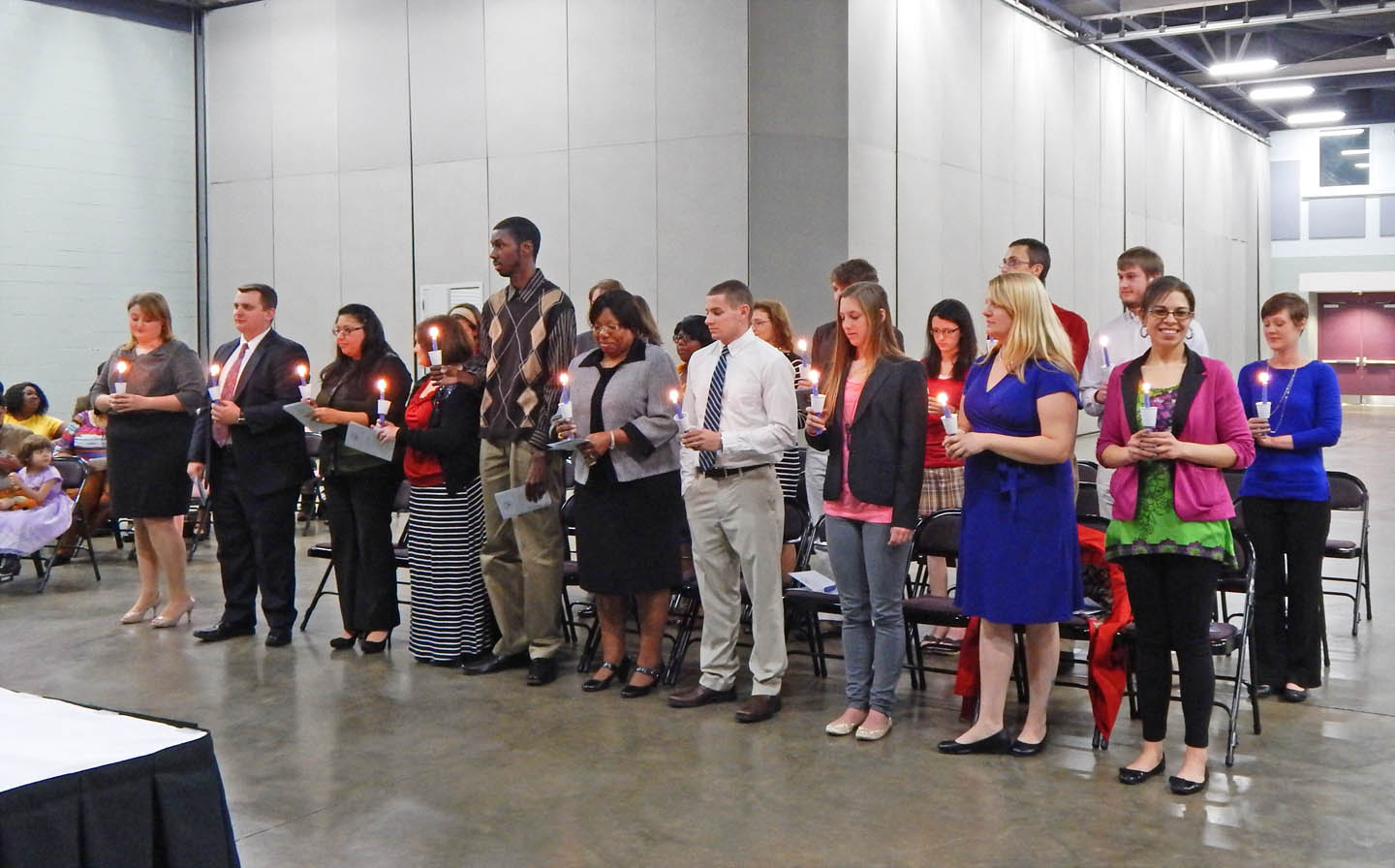 Click to enlarge CCCC students inducted into Phi Theta Kappa