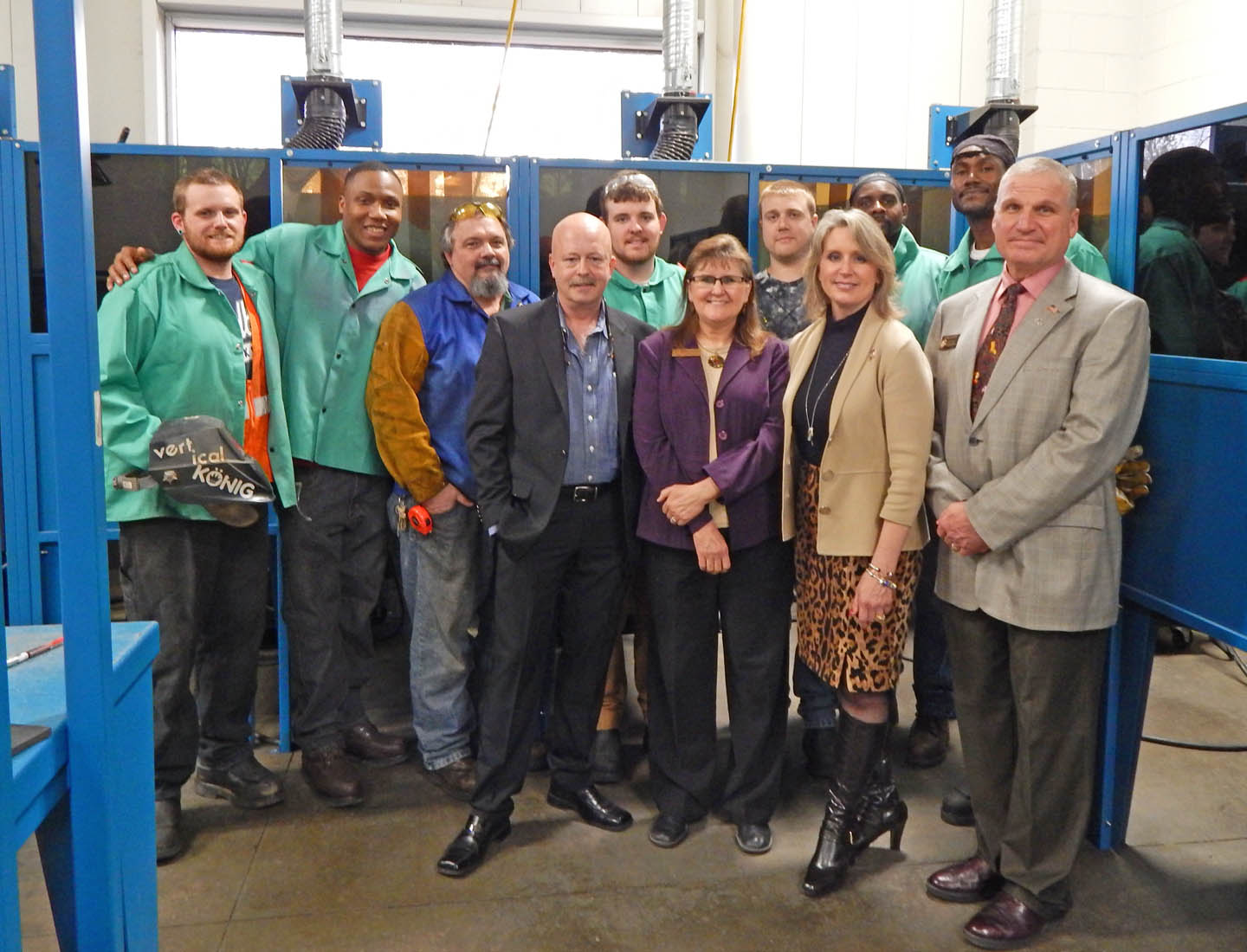 Click to enlarge Ellmers impressed by CCCC workforce training at Innovation Center