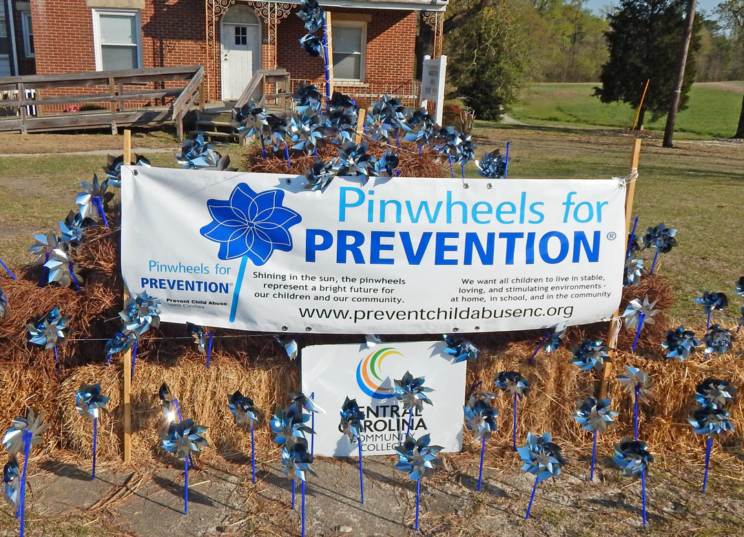 Click to enlarge CCCC students raise awareness of Child Abuse Prevention Month