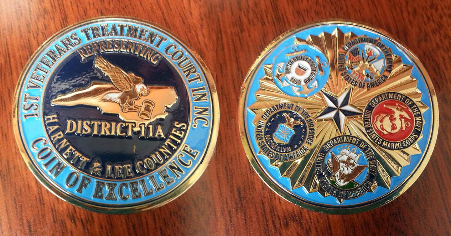 Read the full story, CCCC receives Veterans Treatment Court coin